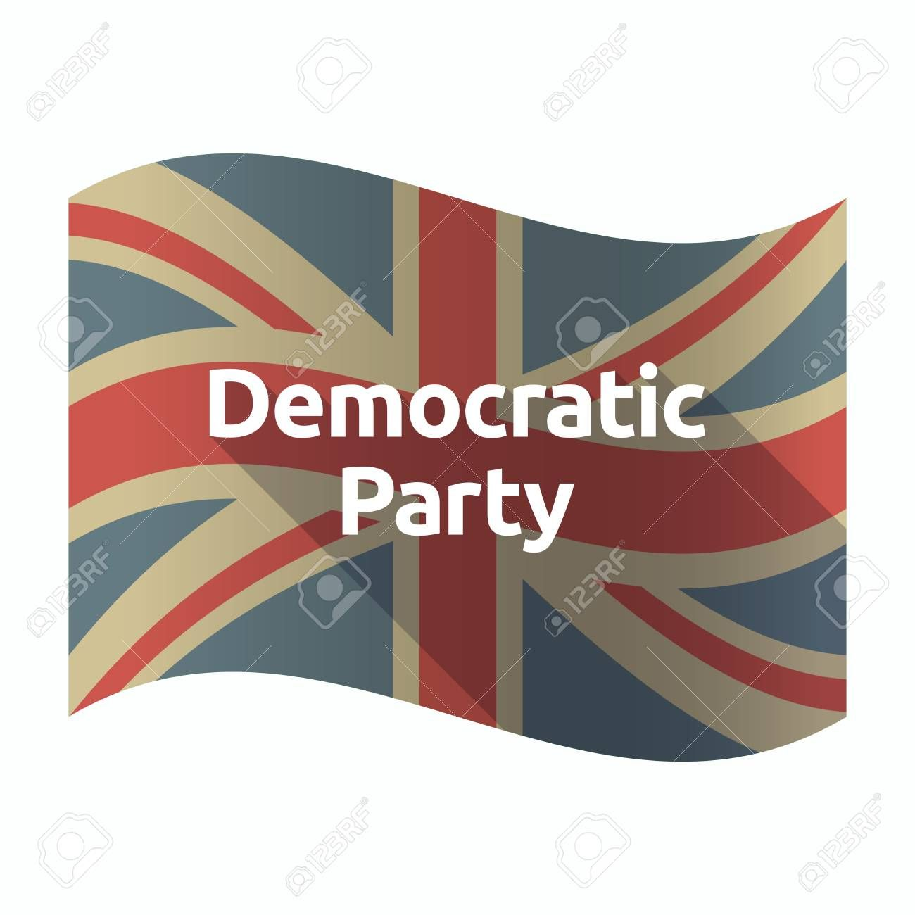 Illustration Of A Isolated Long Shadow United Kingdom Flag With The Text Democratic Party Ad Shadow United Lon United Kingdom Flag Illustration Shadow