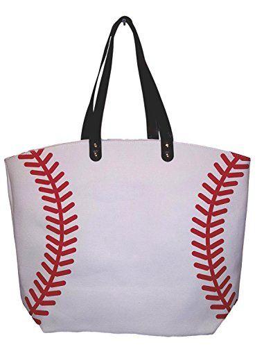 eaae6ba18ef7 X-Large 22 in Wide Baseball Design Beach Bag Tote - Personalization ...