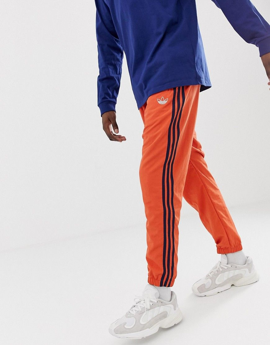 c47e0ff04 ADIDAS ORIGINALS WOVEN 3 STRIPE JOGGERS GREEN DV3141 - ORANGE. # adidasoriginals #cloth