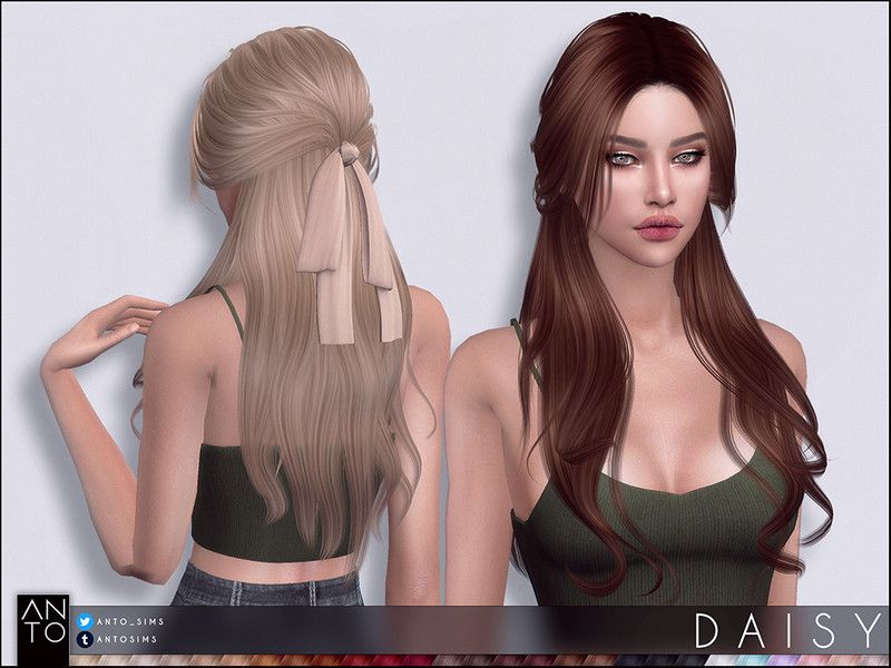 27 Colours Found In Tsr Category Sims 4 Female Hairstyles In 2020 Sims 4 Dresses Sims 4 Womens Hairstyles