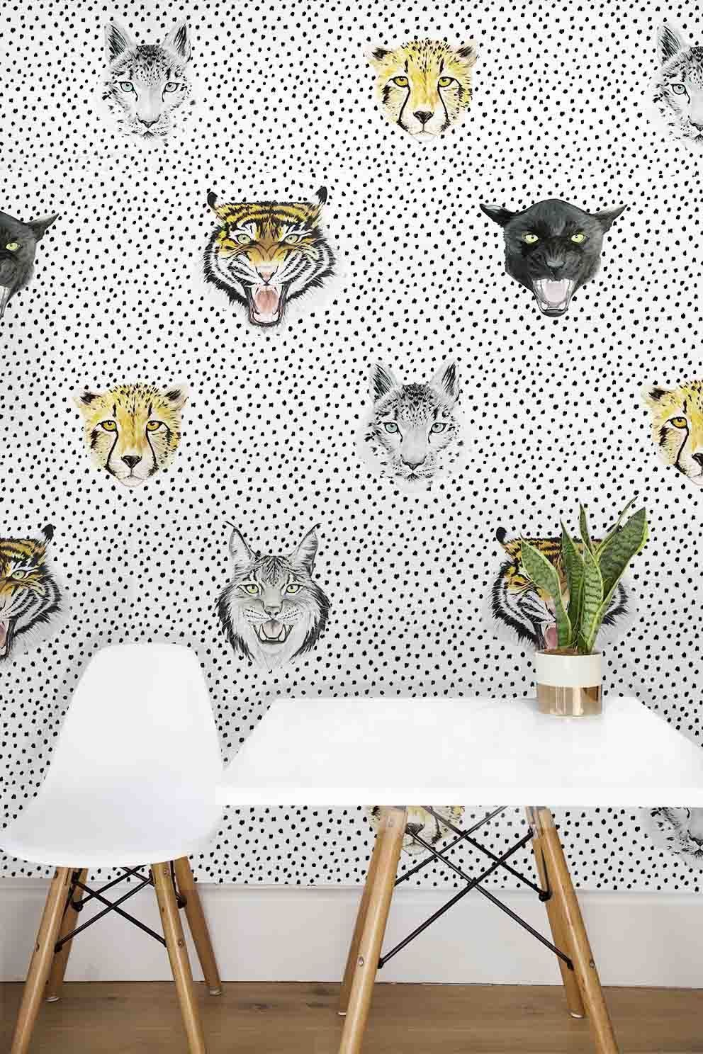 This Wallpaper Is Unisex It S So Cool And Modern Tigers Jaguars