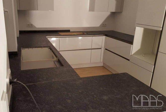 Steel #Grey #Küchenarbeitsplatte aus #Granit http\/\/wwwmaasgmbh - kuchenarbeitsplatten aus granit