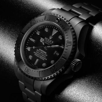 Deepsea 'Predator' All Matt Black Rolex £15,500   Schwarze