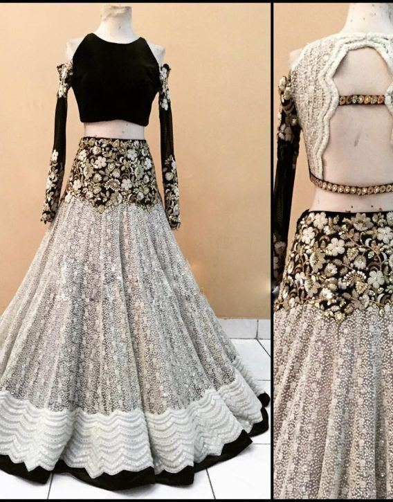 774bffb5c56d HEAVY WORK #EMBROIDERED #BLACK AND #OFF #WHITE #DESIGNER #BRIDAL ...