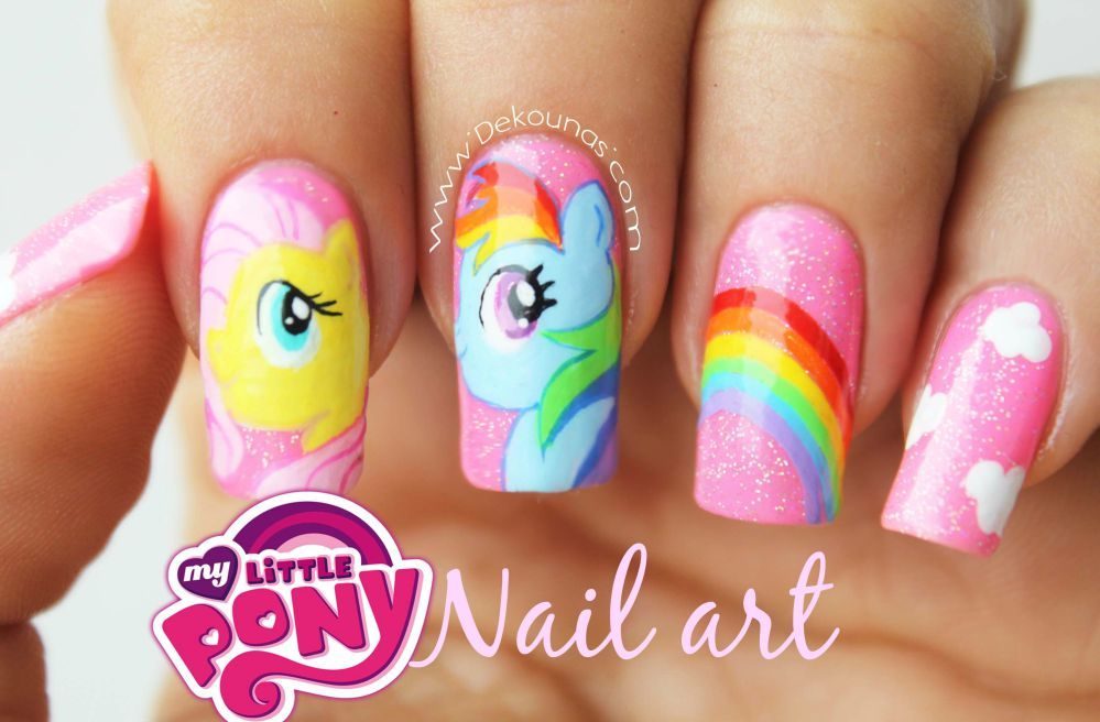Decoración de uñas my little pony-5 | Uñas | Pinterest | Decoración ...