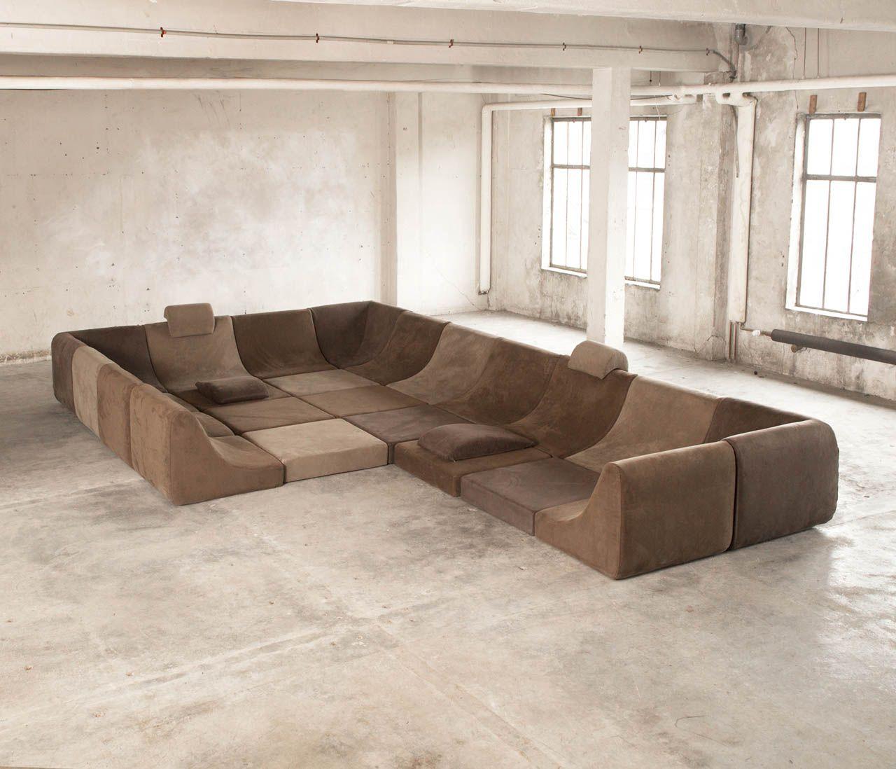 25 Pc Modular Pool Luxury Seating Landscape By Luigi Colani