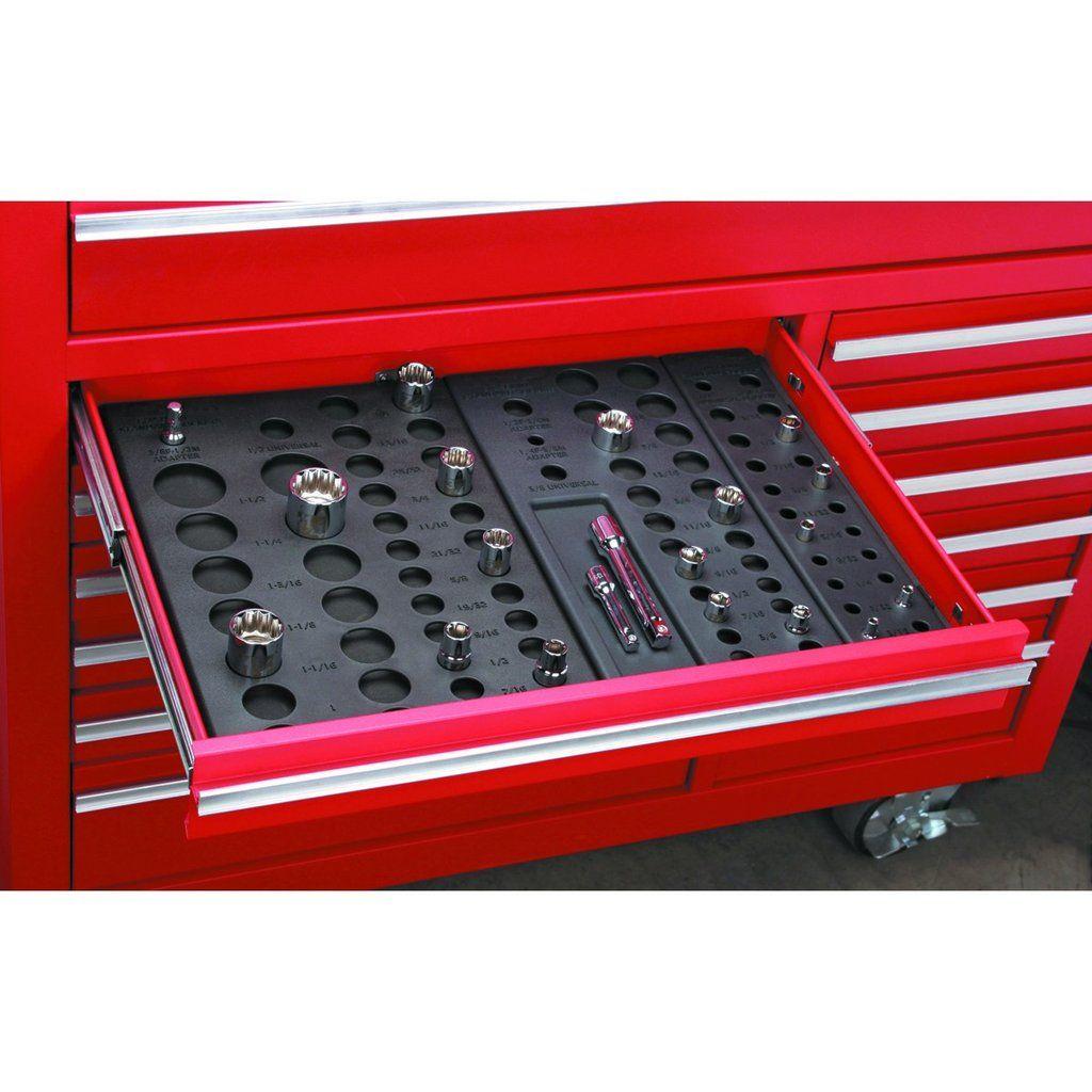 Plastic socket rack drawer organizer for tool box drawer for Socket organizer ideas