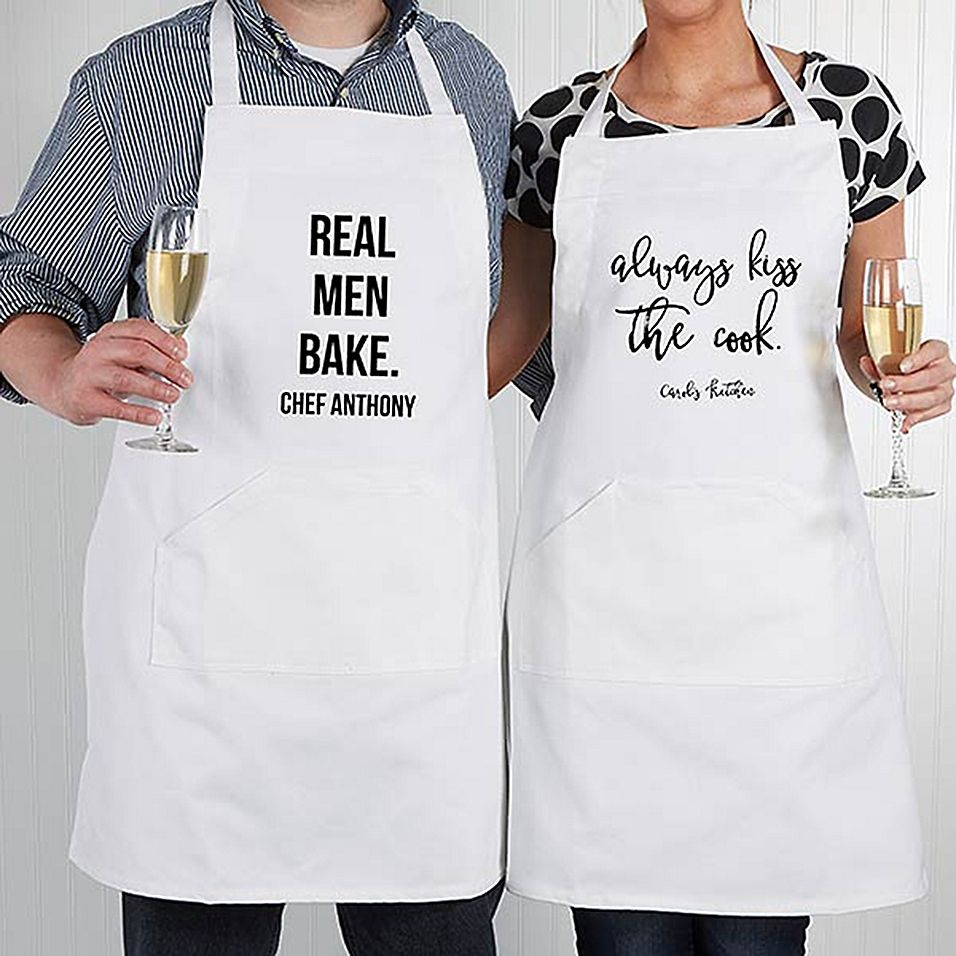 Kiss the Cook FREE personalization 3 pocket apron