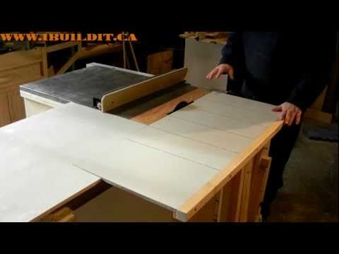 Homemade Table Saw Sliding Table Demo Woodworking Joints Woodworking Lamp Woodworking