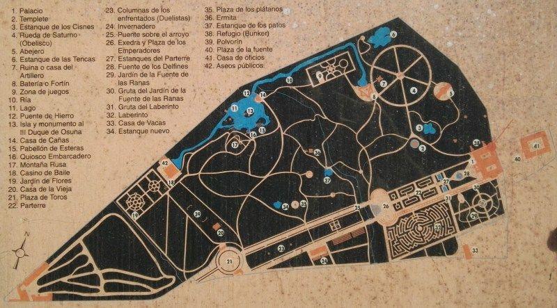 Parque Del Capricho Mapa.Bunker De El Capricho Plano Del Parque De El Capricho