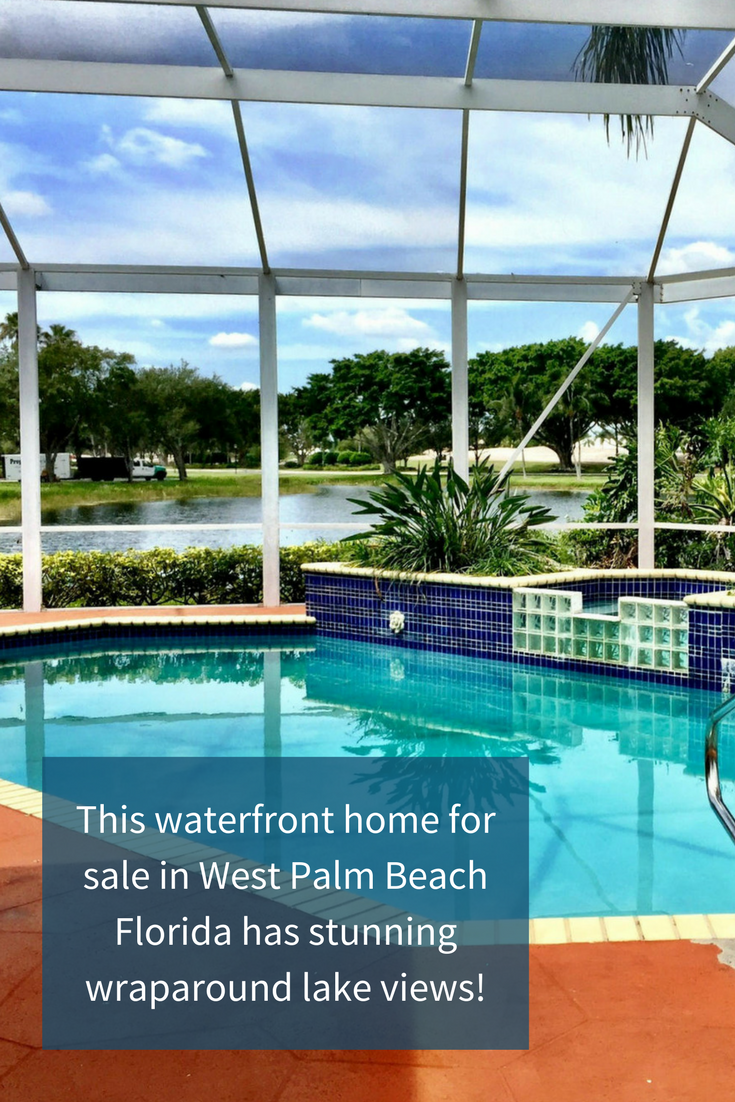 This West Palm Beach Florida Home In Ibis Features Wraparound Lake Views West Palm Beach Florida Waterfront Homes For Sale West Palm Beach