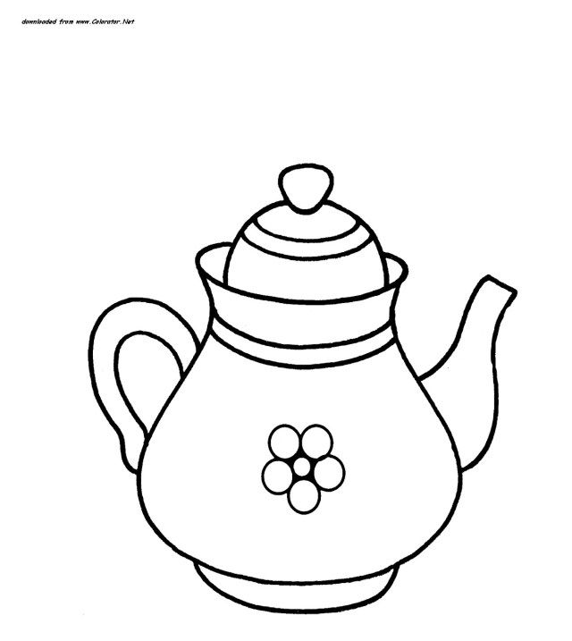 Best Photo Of Teapot Coloring Page Coloring Pages Alphabet