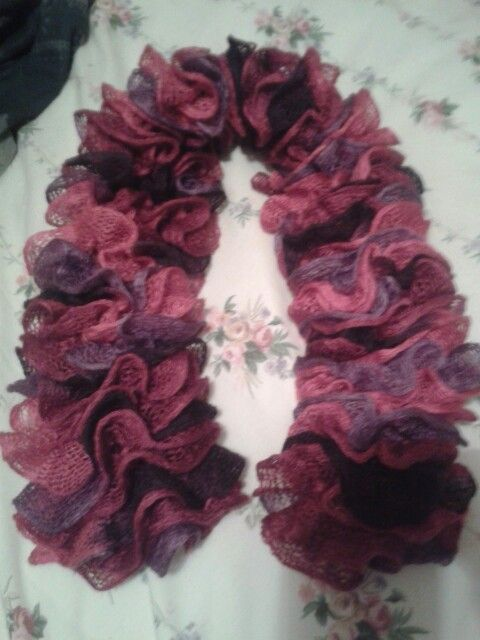 Knitted scarflet all finished