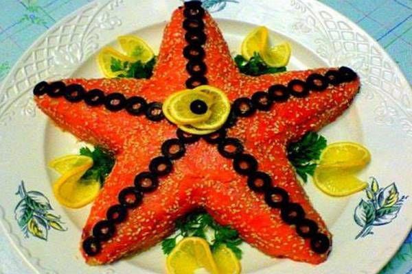 Салат с Красной Рыбой Рецепт с Фото Пошагово как ...