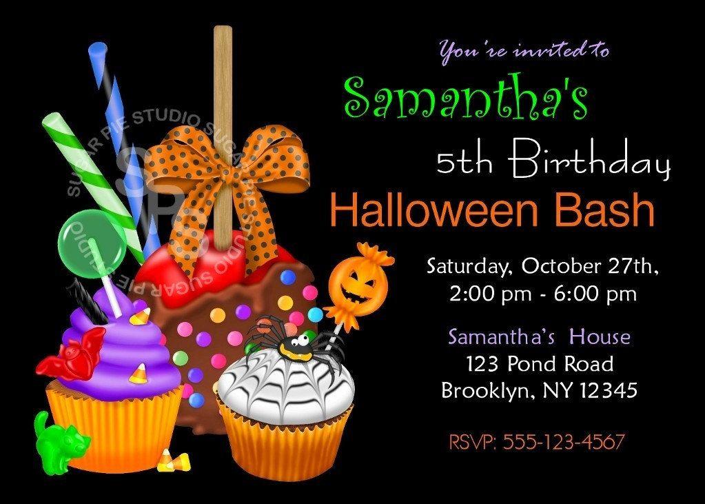 halloween birthday invitations printable | Samantha\'s 6th Birthday ...