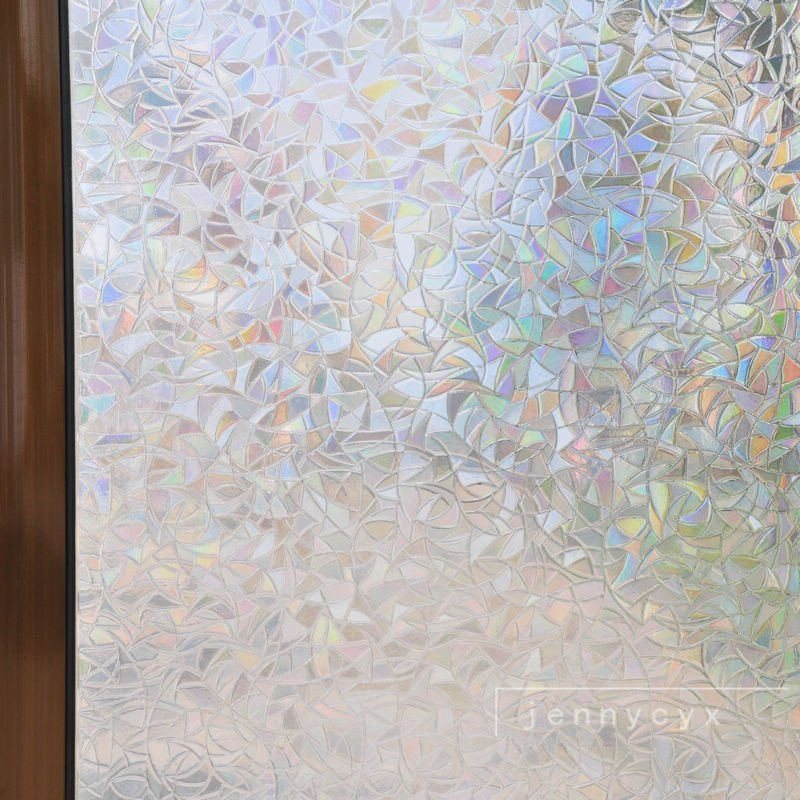 Stick On Decorative Window Film Frosted Stained Glass