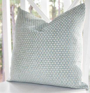 Green-blue Geometric Pillow Cover by Motif Pillows - contemporary - pillows - by Etsy