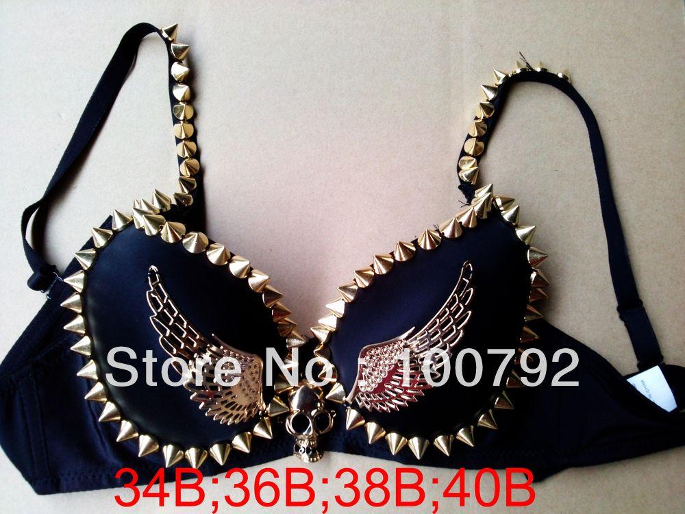c24da0351dc Aliexpress.com   Buy Free shipping go go fashion stripe and skeleton skull  angel studded