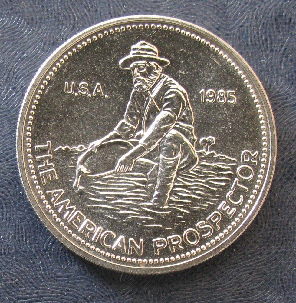 1985 Engelhard American Prospector 1troy Oz 999 Silver Round Silver Rounds Silver Bullion Silver