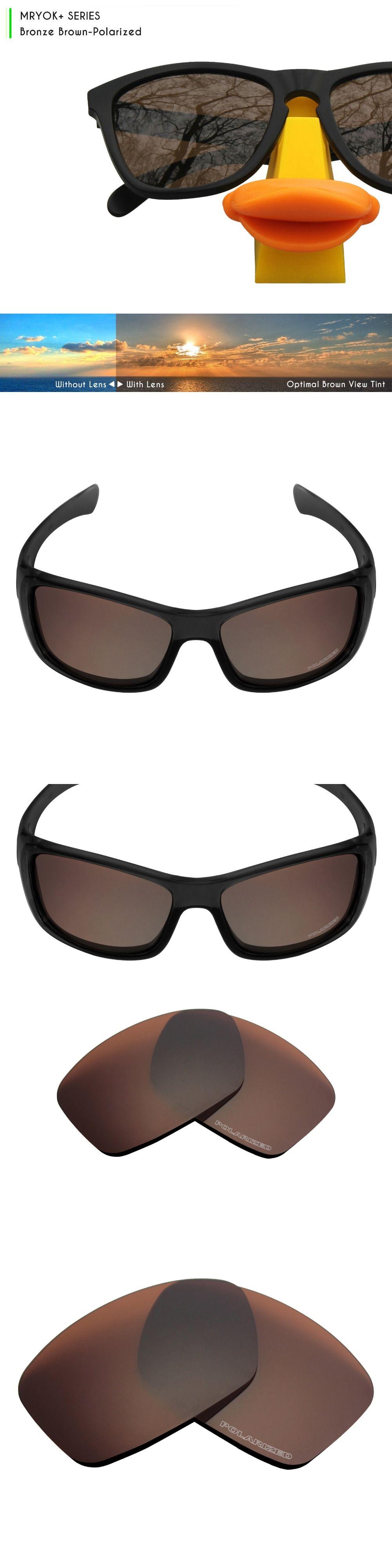 Mryok+ POLARIZED Resist SeaWater Replacement Lenses for Oakley Hijinx  Sunglasses Bronze Brown