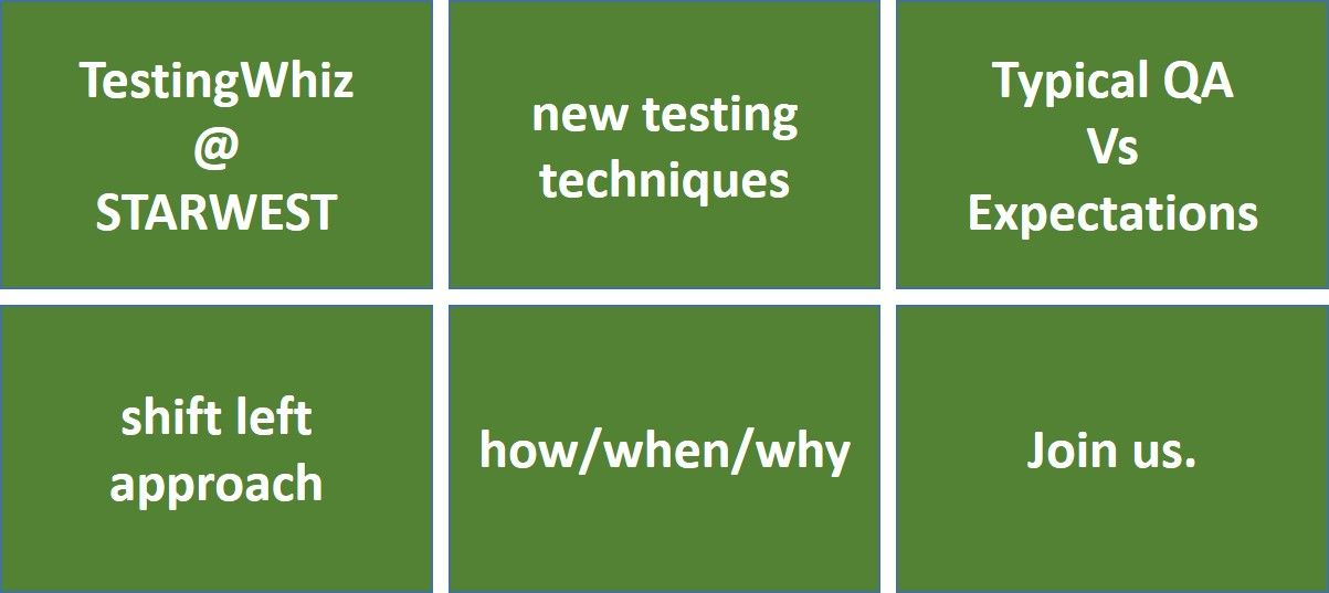 An opportunity to learn from thought leaders in the testing industry and chat with them in person about your challenges with TestingWhiz