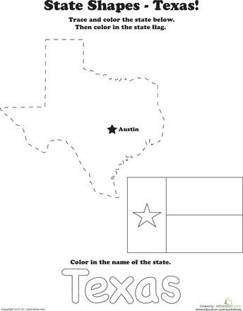 Trace the Outline of Texas | 2nd Grade | Texas outline, Texas crafts ...