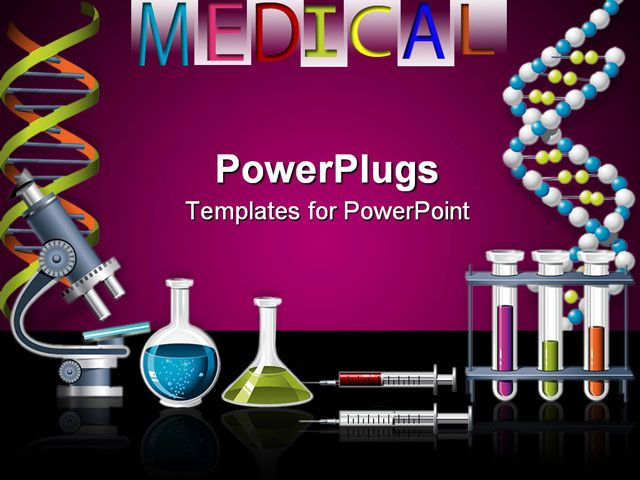 science lab equipment powerpoint Science and Genetics icons - Science Powerpoint Template