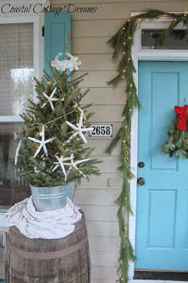 Coastal Cottage Dreams Christmas On The Porch With Images