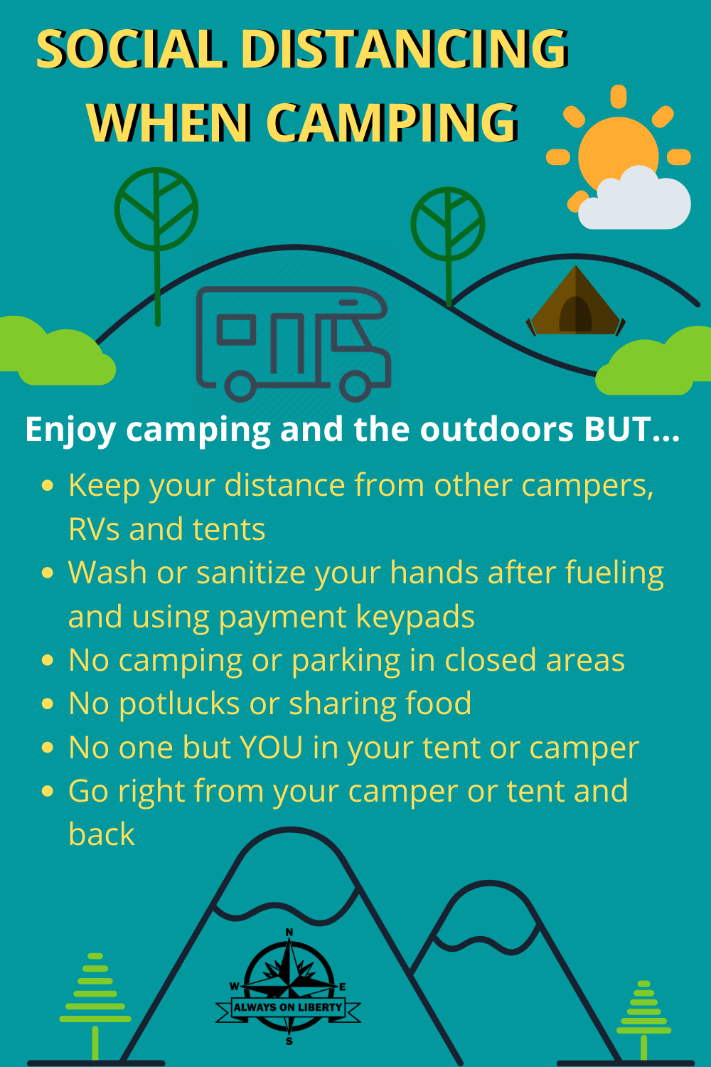 How To Social Distance At Campgrounds Social Distancing Camping Tips Rv Parks And Campgrounds Boondocking Rv Parks