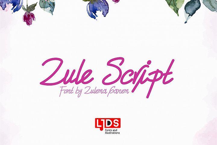 Download Zule Script | Best script fonts, Free fonts download ...