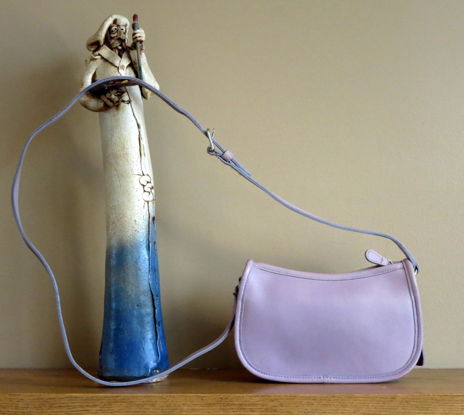 ee342dd3 Coach Wendie Zip In Lavender Leather Style No 9031- Made In Costa ...