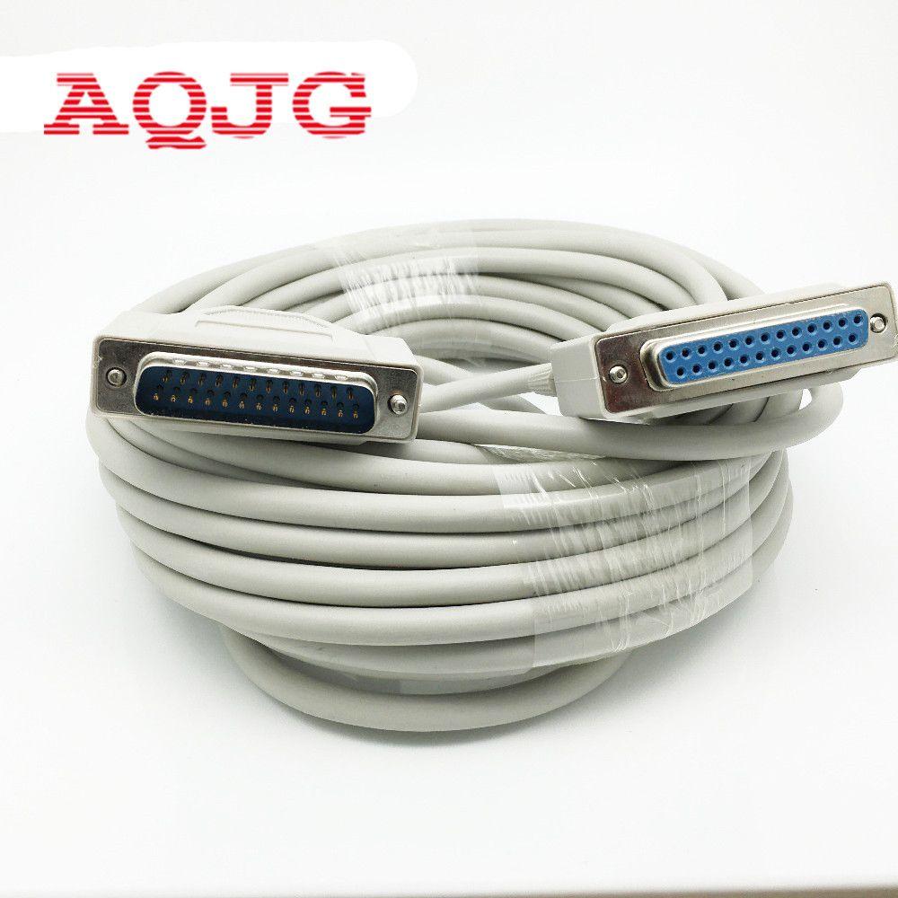 db25 25 pin male to female m f printer cable 10m db25 25 pin parallel male to male lpt printer cable 10feet new [ 1000 x 1000 Pixel ]
