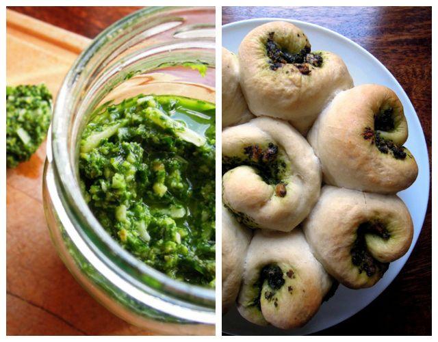 Wild garlic pesto tear & share bread. #tearandsharebread