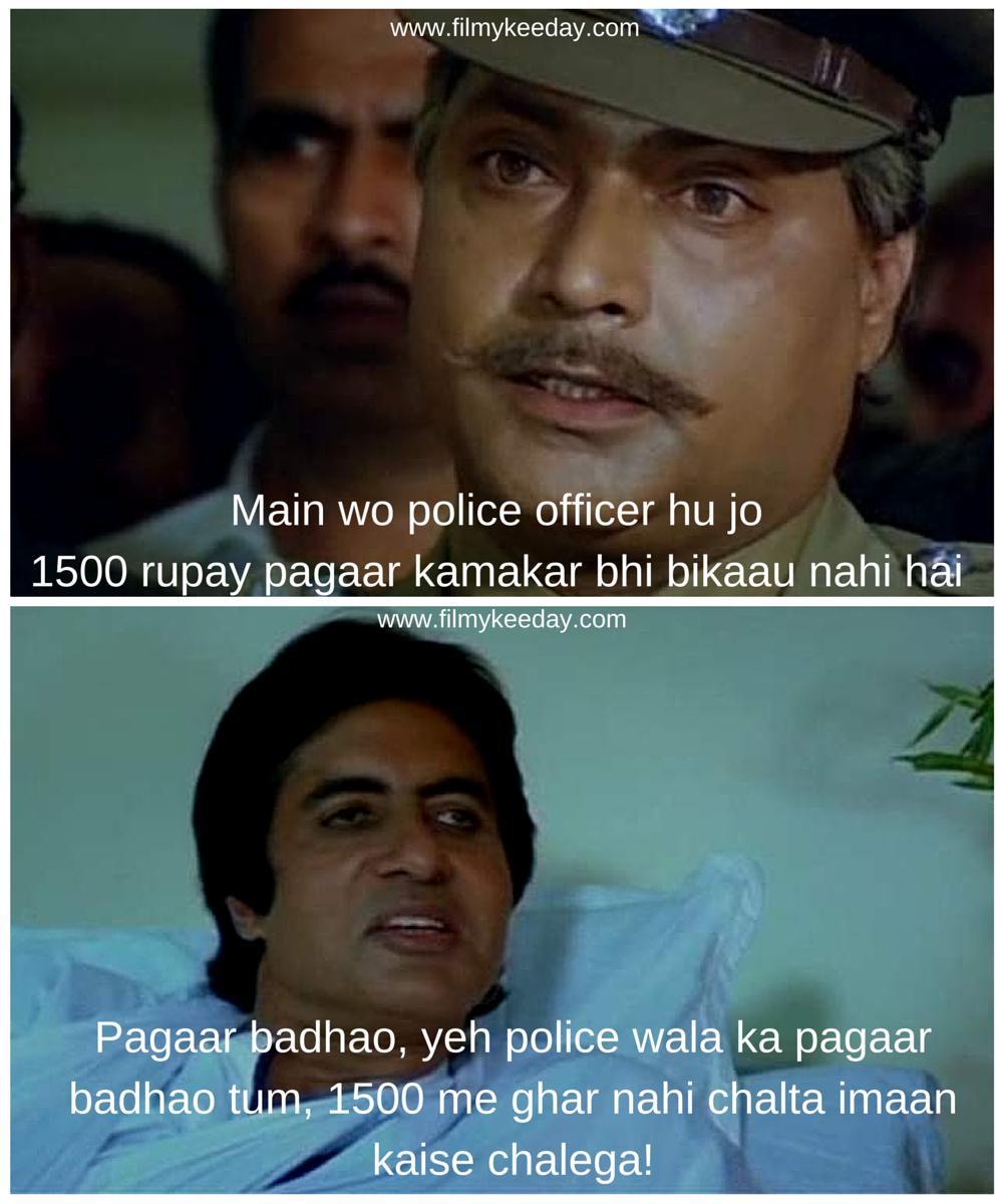 Amitabh Bachchan In Agneepath 1990 Film Dialogues Meme Famous Movie Dialogues Movie Dialogues Funny Dialogues