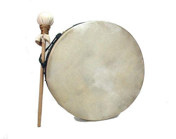 Stoneware Pottery Hoop Hand Drum Roped Bodhran by Artifactorium
