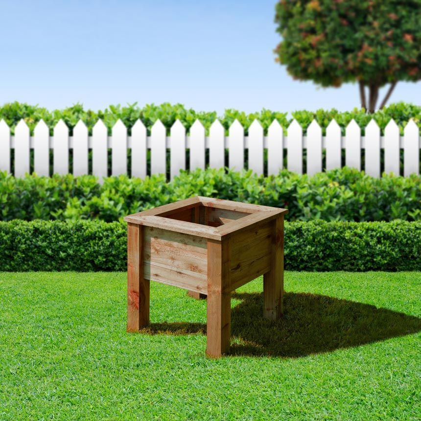 Manton square planter - medium (available in light green/rustic