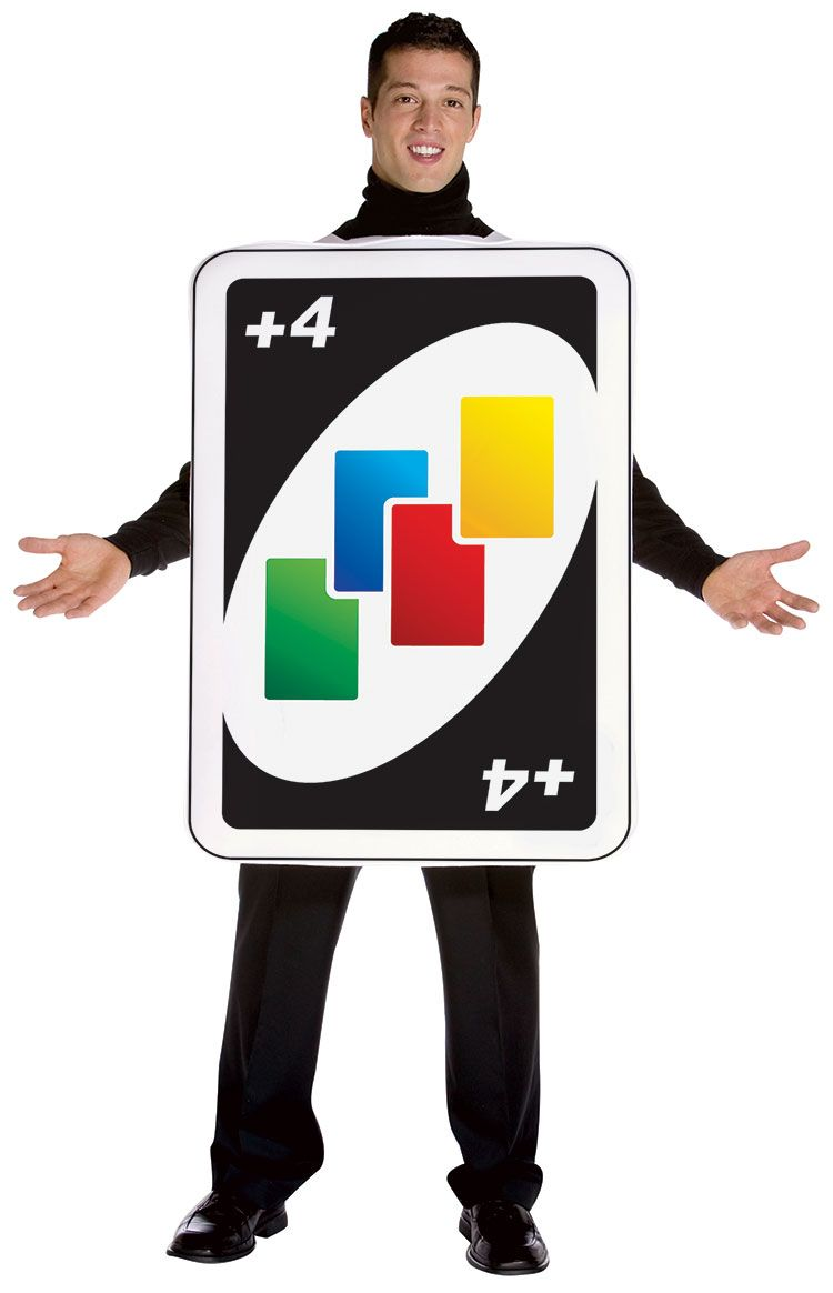 Uno Draw 4 Card Costume Product Description This Uno Draw 4 Card Costume Includes A One Piece Body Tunic Match This Costume With Card Costume Uno Cards Cards