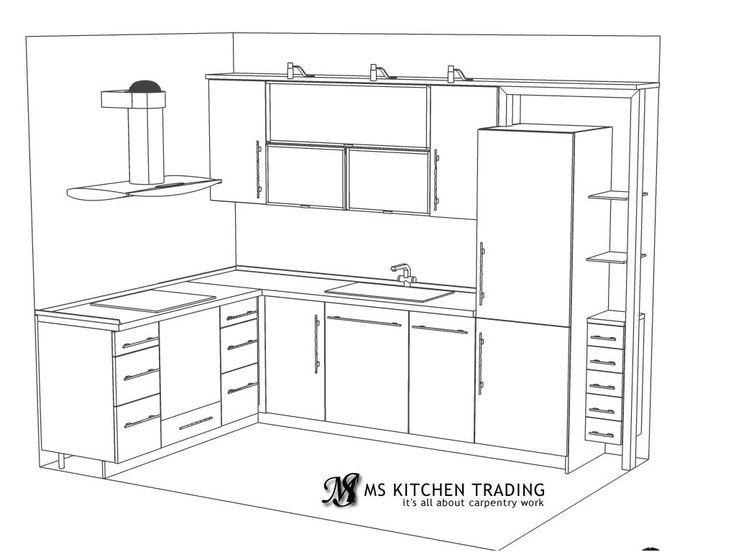 Image Result For Plan For L Shaped Kitchen
