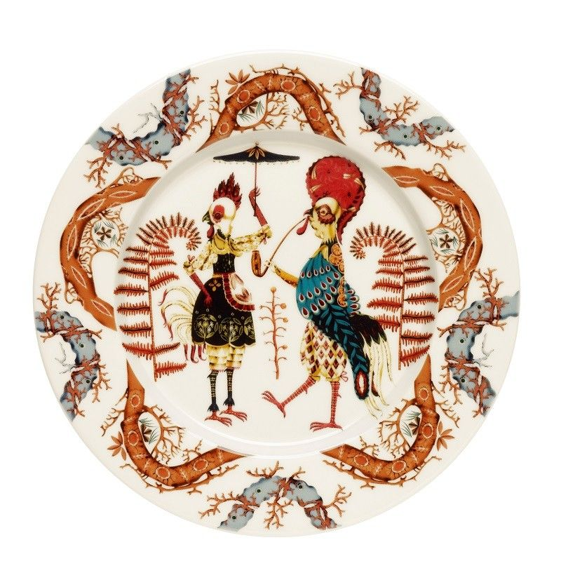 "Tannsi, means ""Dance"" stunning characters on beautiful ceramics for timeless dining in style, Klaus Haapaniemi style."