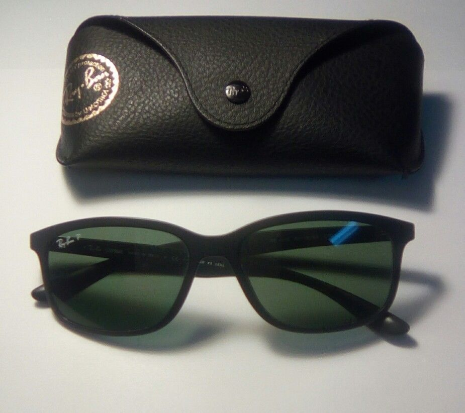 c3aa01c705b Ray Ban Liteforce Sunglasses Black Green Polarized lens RB 4215 601-S 9A