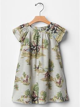 Wild horse poplin dress