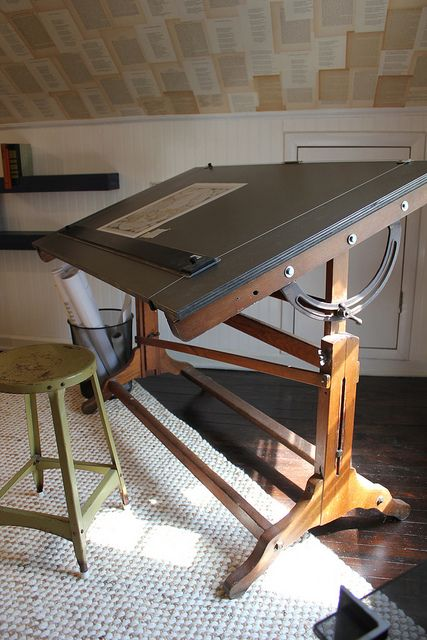 Pin By Andrea Renzi Mcfadden On Ideas For A Small Studio Vintage Drafting Table Drafting Table Drawing Desk