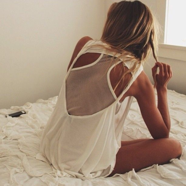 Love the open back, layered with tank or not so cute