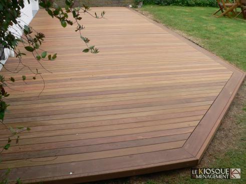 terrasse bois exotique avec ceinture de finition - Le Kiosque