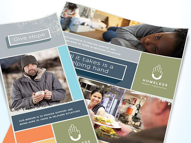 Brochure And Flyer Designs For A Homeless Shelter By Stocklayouts Com Professional Graphic Design Homeless Shelter Homeless