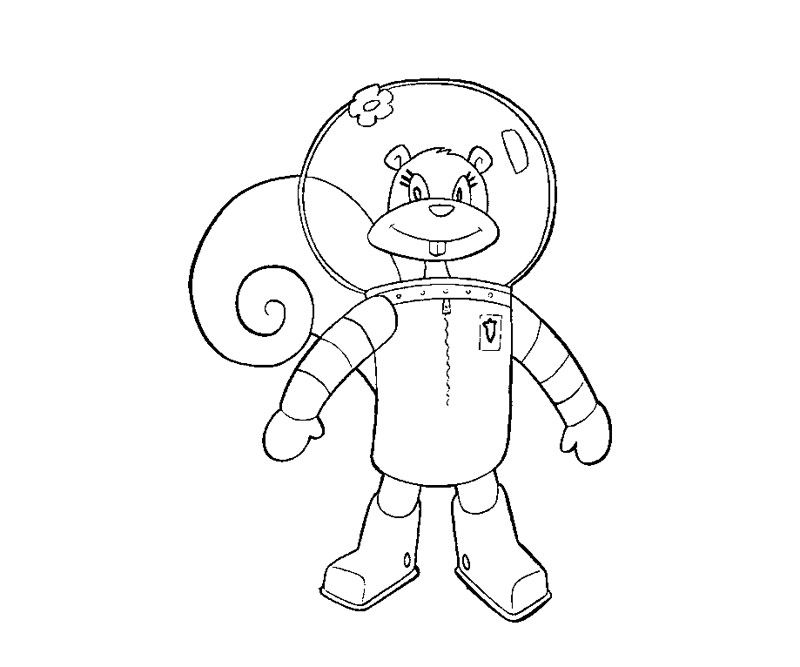 neil armstrong coloring sheet | sandy cheeks Colouring Pages (page 2 ...