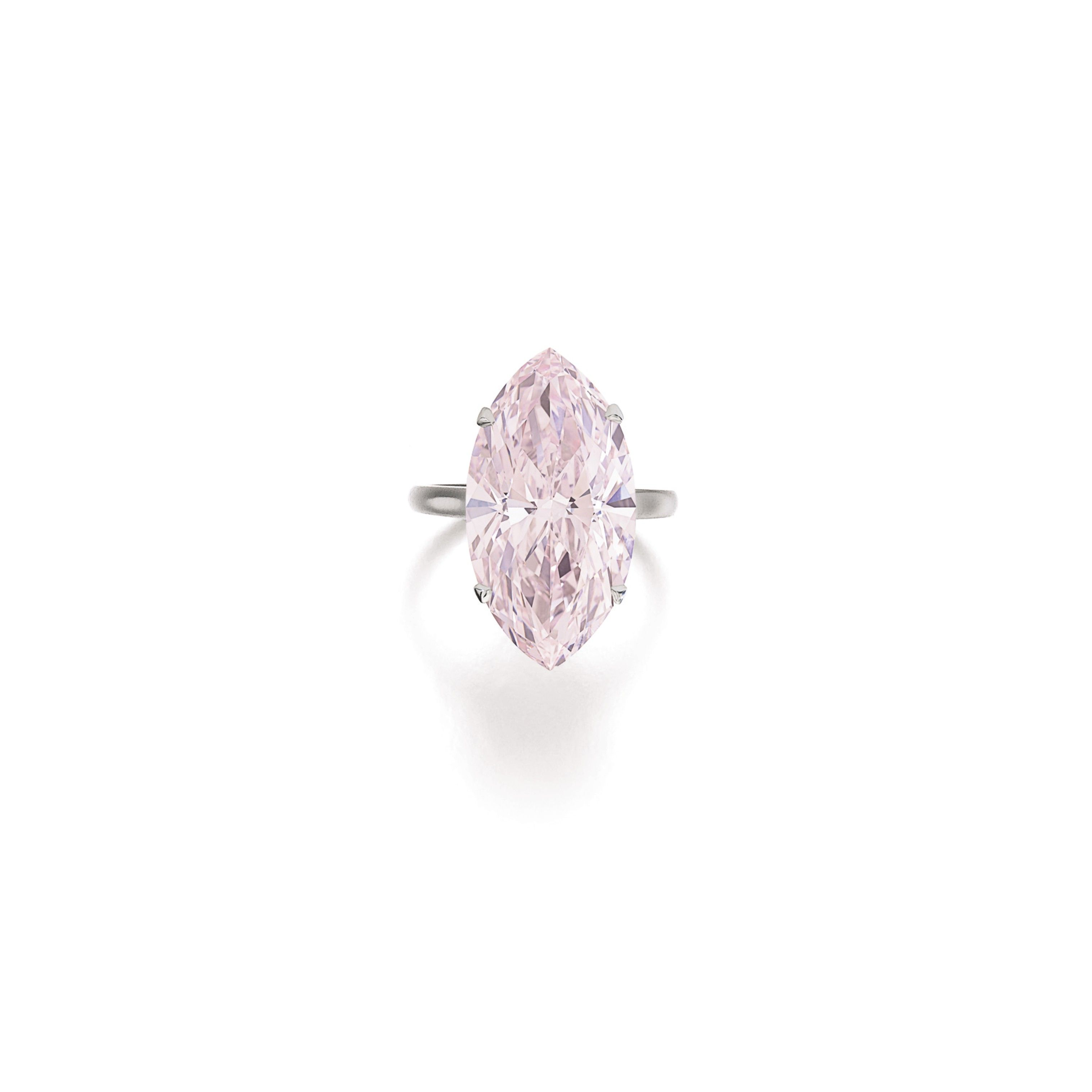 This 12 07 Carat Marquise Cut Pink Diamond Set A Record For Highest Per Carat Price Ever Paid For A Diamond Of That Colour At 655889