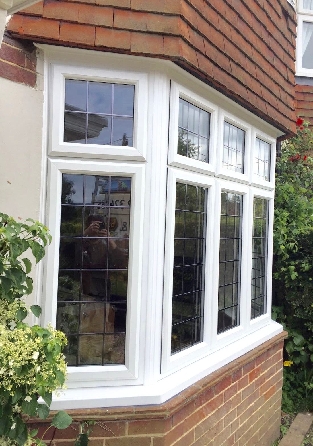 Square Bay Window With Leaded Double Glazing Bay
