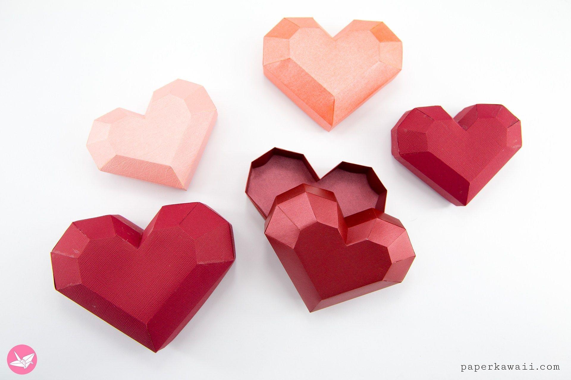 Paper Heart Box Tutorial Paper Kawaii Heart Box Heart Gift Box Paper Heart