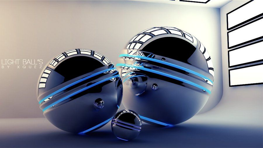 Light Ball's     Cinema 4d Photoshop by xQuez deviantart com